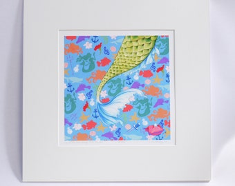 LITTLE MERMAID a little love larger than the sea limited edition signed faerie tale feet print hans christian andersen's the little mermaid