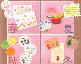 Let's Write a Letter 365 days a year with cute illustrations by Mizutama - Japanese Book