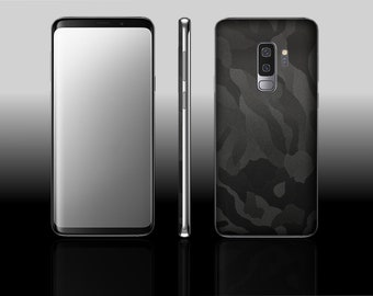 Samsung Galaxy S9 Plus Black Shadow Camo Hyde Phone Skin Decal