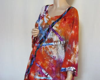 1X to 2X  Ice Dyed Tunic Plus Size