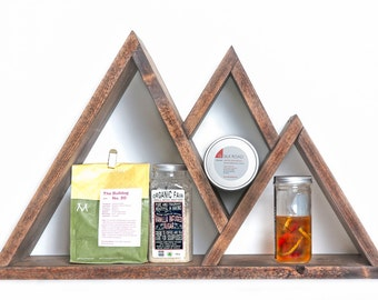 Custom wood triangle shelf