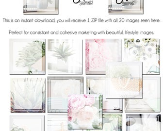 Social Media Templates - Instagram Graphics - 20 Different Social Media Templates, Intagram Templates, Pinterest Templates, Text Layers