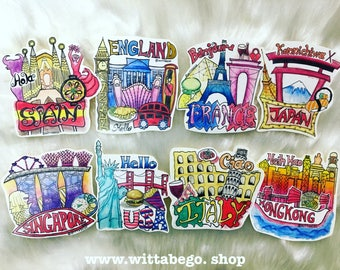 Stickers (8 countries)