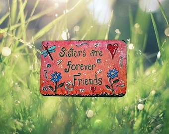 Mother's Day gift - Cement Sister Stepping Stone - gift for women - gift for her - sister gift - garden stepping stone - gift for a gardener