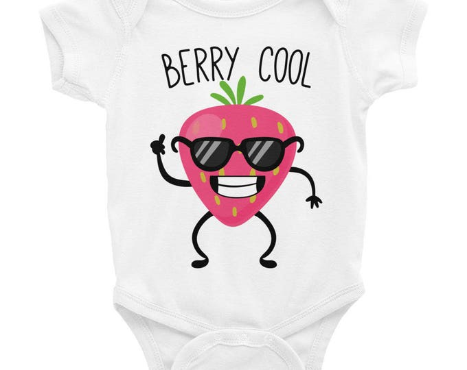 Berry Cool Funny Onesie ® Bodysuit, Funny Onesies, Baby Clothes, Funny Baby Gift, Cute Baby Clothes, Funny Baby Clothes, Cute Baby Onesies