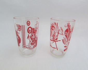 Two Swanky Swig Juice Glasses