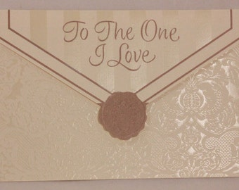 NEW! Religious To the One I Love Anniversary by DaySpring . 1 Single Card with Envelope.