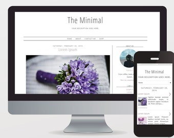 Premade Blogger Template The Minimal Mobile-friendly