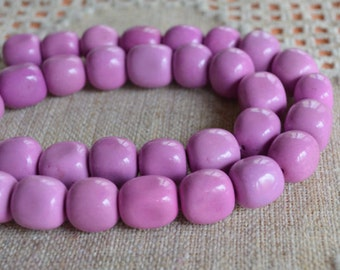30pcs Fuchsia 10-15mm Nuggets Chalk Turquoise Natural Gemstone Beads 16 Inches Strand