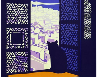 Vintage Casablanca Morocco Travel Poster Digital Print Various Sizes