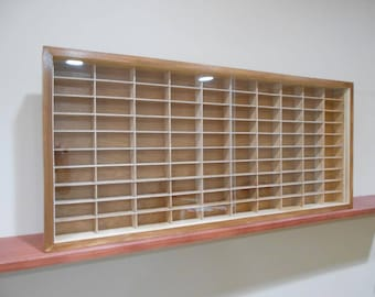Display case cabinet for 1/64 diecast scale cars (hot wheels, matchbox) - 100NWW-1