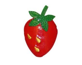 ID 1235C Strawberry Symbol Patch Fresh Fruit Summer Snack Vinyl Iron On Applique