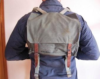 1970s Yugoslavian Army Backpack / Shoulder Bag, Army Surplus Back Pack Yugoslavia, JNA Rucksack, Vintage Army Shoulder Bag, Crossbody Bag