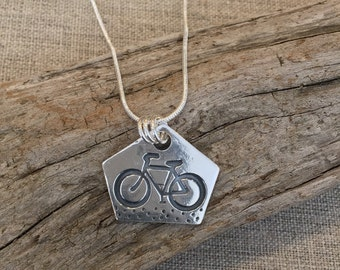 Bicycle Fine Silver Pendant