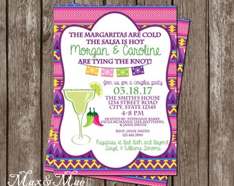 Margarita Bridal Shower, Fiesta Bridal Shower, Wedding Shower Fiesta, Salsa Is Hot, Digital, Printable