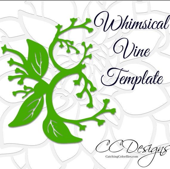 SVG-Rebe Schnitt Datei scrollen Vine Cutting-Dateien