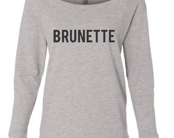 Brunette Crew Neck Raglan, Weekend Wear, Raglan, Fall 2017