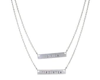 Silver petite insolente necklace
