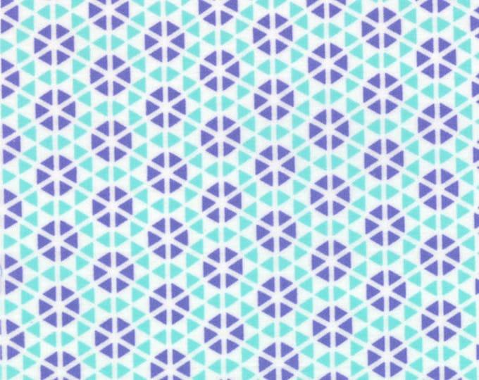 HUBBA HUBBA - Hexi Geometric in Turquoise / Purple - Fun Cotton Quilt Fabric - My Sister & Me Designs for Moda Fabrics - 22214-28 (W3960)