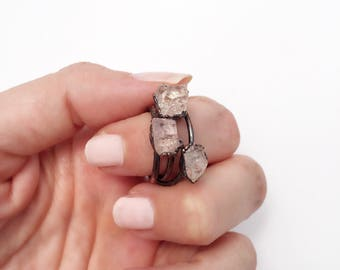 Raw Topaz Ring, Topaz Ring, Raw Birthstone Ring, November Birthstone Ring, Raw Birthstone Jewelry, Raw Crystal Ring, November Birthstone