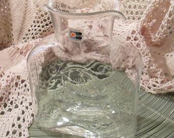 Vintage Blenko Clear Water Bottle