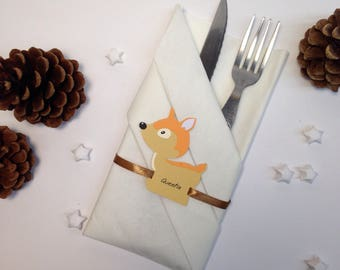 Place card animal forest - Fawn - size 6.5 and 7cm