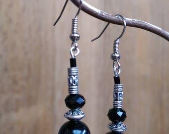 Pretty Silver earrings ~ Tibetan inspired ~
