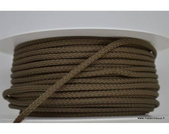 Braided cord 4mm Taupe color