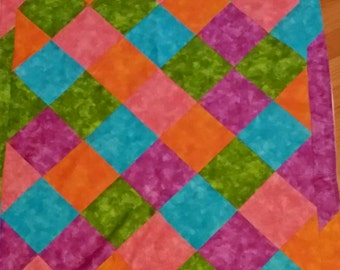Vintage Embroidery Multicolor Quilt