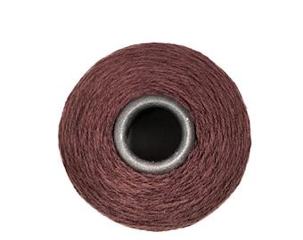 Dark Brown Merino Wool Yarn Cone - Lace weight - KNITTING - WEAVING - Crochet -YARN on Cone - Merino Wool Cone - Loom Yarn - Brown Cone Yarn