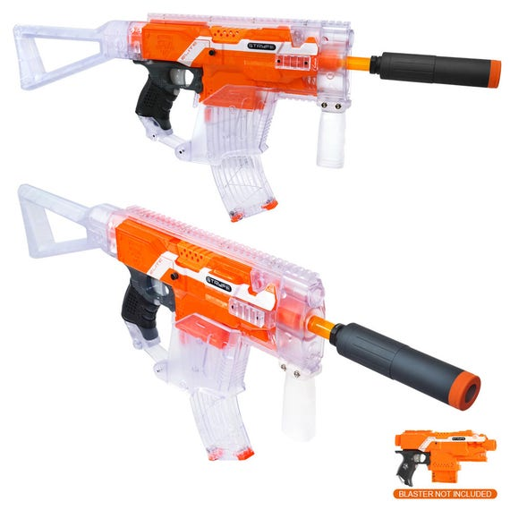Worker MOD Kriss Vector Imitation Kit Clear Combo for Nerf Stryfe Modify Toy