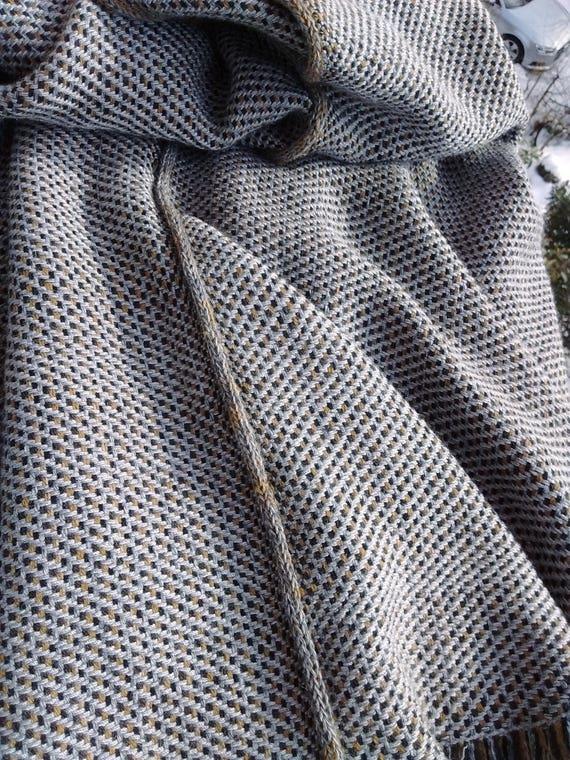 Beige Unisex Gray poncho Cape Handcrafted Handwoven Unisex poncho Cashmere poncho One Wool Ruana Women Men's OOAK size poncho w1q0fZ