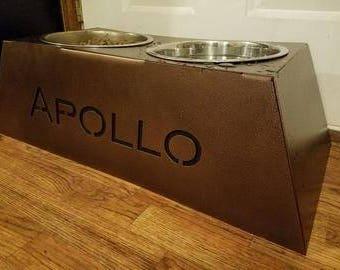 Personalized Dog Food Bowl Riser
