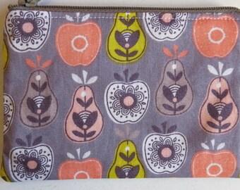 Fruit print coin purse