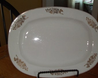 Knowles Ironstone Edwin M Knowles Platter Vitalus Edwin M Knowles China Co Ironstone