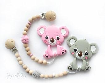 Koala teether | silicone teether | teething clip | teething toy | pacifier clip