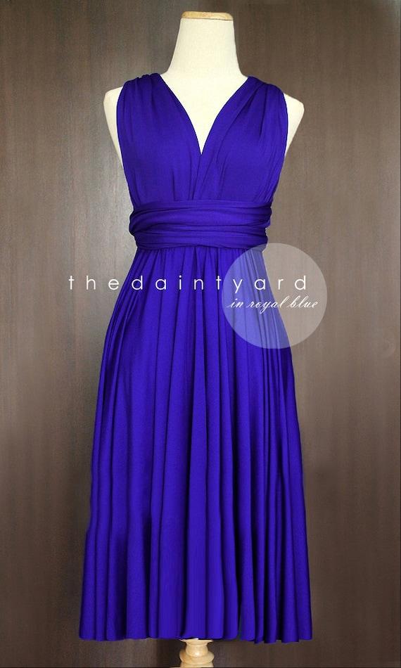 Short Straight Hem Regular Royal Blue Bridesmaid Dress