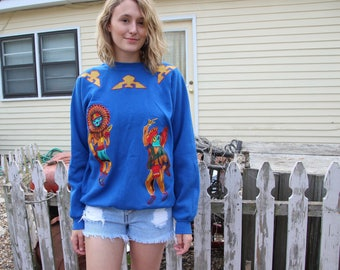 One Of A Kind Hand Made Native American Sweater