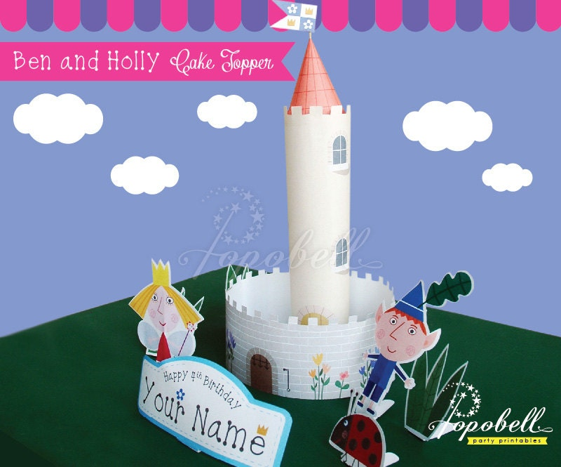 Ben and Holly Cake Topper Printable. Ben and Holly\'s