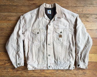Carhartt Blanket Lined Beige Denim Jacket