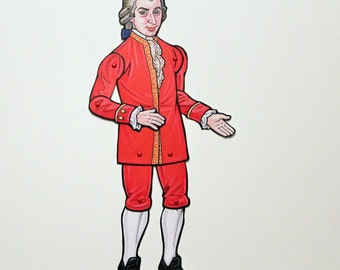 Wolfgang Amadeus Mozart Articulated Paper Doll