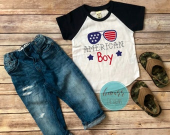 All American Boy Tee, 4th of July Tee, Fourth of July Kids, All American Boy Shirt, Youth Fourth of July Shirt, Boys Fourth of July Tee
