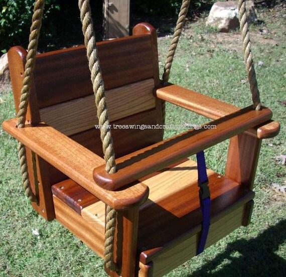 Weight Of Tree Wood: Wood Tree Swing Oakipele Kids Seat Swing