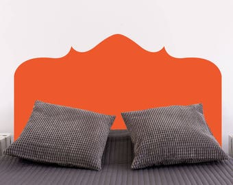 Bonn Headboard | Bedroom Wall Decal Bed Headboard Modern Decal | Removable Vinyl Wall Sticker