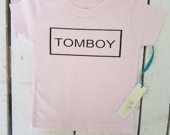 TOMBOY baby-adult t-shirt! (Rabbit Skins/LAT/Bella+Canvas)