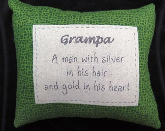 Grampa Pillow