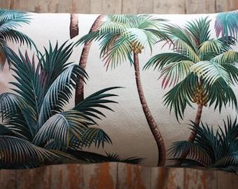 palm tree tropical lumbar cushion cover