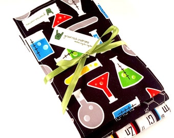 Baby Burp Cloth Set - Chemistry, Fun with Science, Math