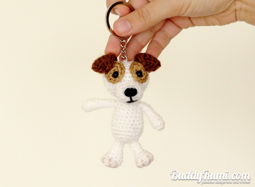 Crochet Amigurumi Keychain Free Pattern : Pattern amigurumi crochet dog keychain pattern pdf file