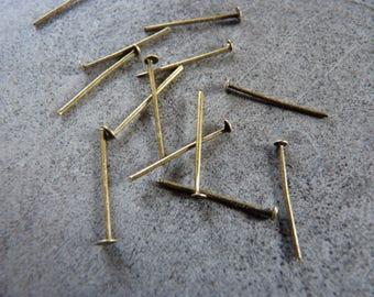 Set of 40 nail studs bronze 2cm